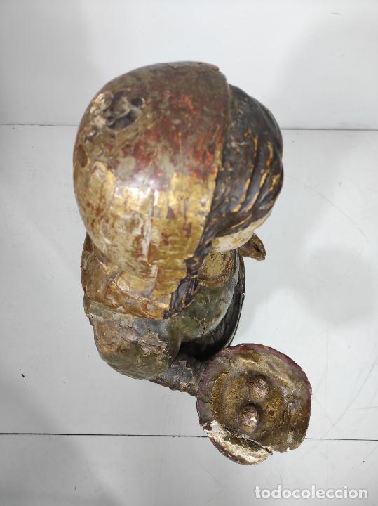 Arte: Santa Lucia - Talla de Madera Policromada y Dorada - Escuela Española - Altura 116 cm - S. XVII - Foto 21 - 234898530