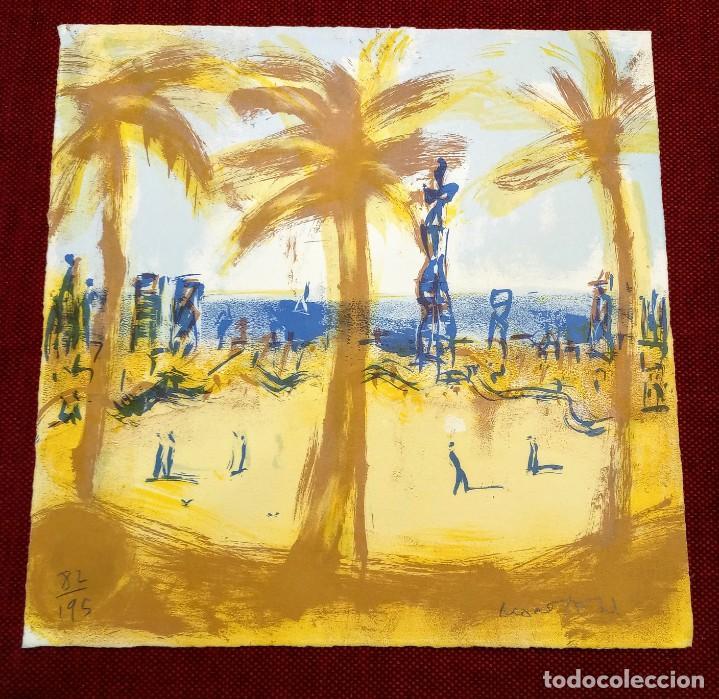 MONTESOL - LITOGRAFIA - BARCELONETA BARCELONA - 33X33CM - FIRMADA LIMITADA Y NUMERADA - 82 DE 195 (Arte - Arte Religioso - Litografías)