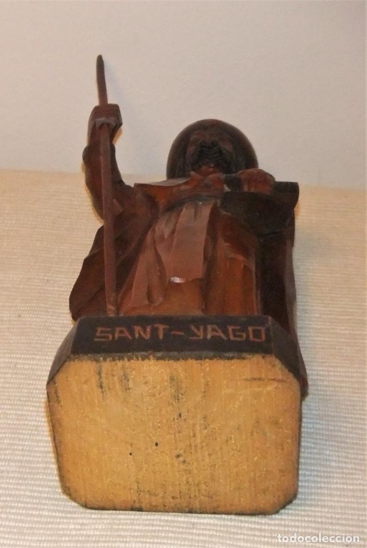 Arte: ANTIGUA TALLA DE SANTIAGO (Sant-Yago) DE MADERA TALLADA - Foto 9 - 234975570