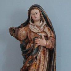 Arte: IMAGEN DE LA VIRGEN MARÍA. ESCUELA CASTELLANA DEL SIGLO XVI. MIDE 56 CM.. Lote 234986865