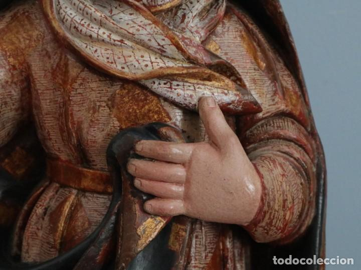 Arte: Imagen de la Virgen María. Escuela Castellana del siglo XVI. Mide 56 cm. - Foto 5 - 234986865