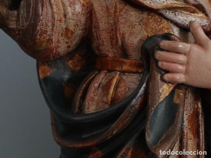Arte: Imagen de la Virgen María. Escuela Castellana del siglo XVI. Mide 56 cm. - Foto 6 - 234986865