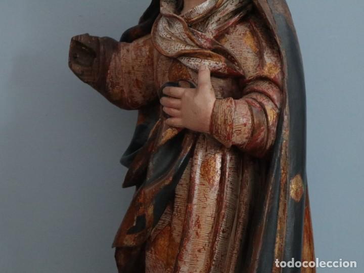 Arte: Imagen de la Virgen María. Escuela Castellana del siglo XVI. Mide 56 cm. - Foto 11 - 234986865