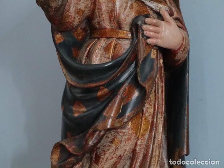 Arte: Imagen de la Virgen María. Escuela Castellana del siglo XVI. Mide 56 cm. - Foto 15 - 234986865