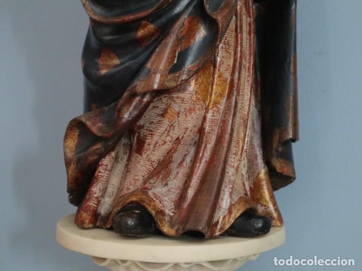 Arte: Imagen de la Virgen María. Escuela Castellana del siglo XVI. Mide 56 cm. - Foto 16 - 234986865