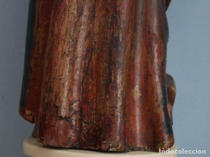Arte: Imagen de la Virgen María. Escuela Castellana del siglo XVI. Mide 56 cm. - Foto 19 - 234986865