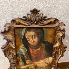 Art: VIRGEN CON NIÑO OLEO SOBRE LIENZO SIGLO XVIII. Lote 235114055