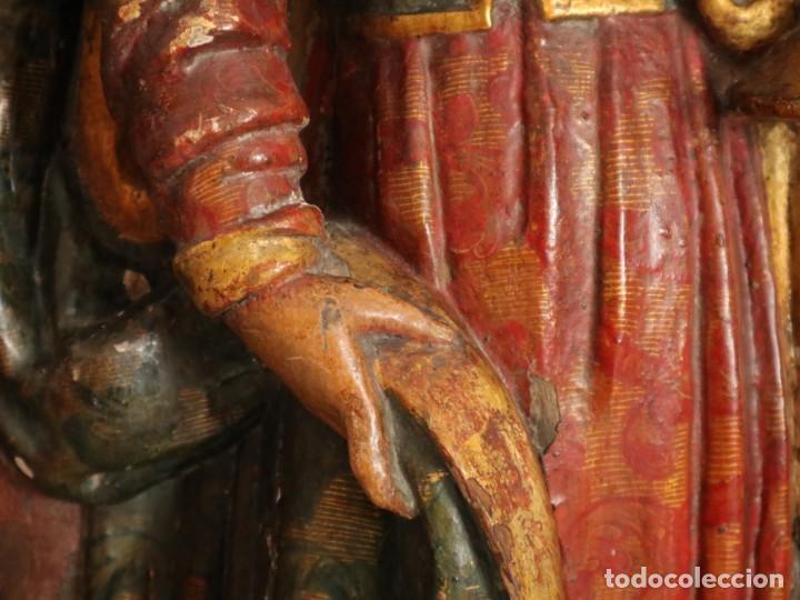 Arte: Santa Clara. Relieve de madera policromada. Retablo del siglo XVII. Mide 81 x 67 cm. - Foto 12 - 235186290