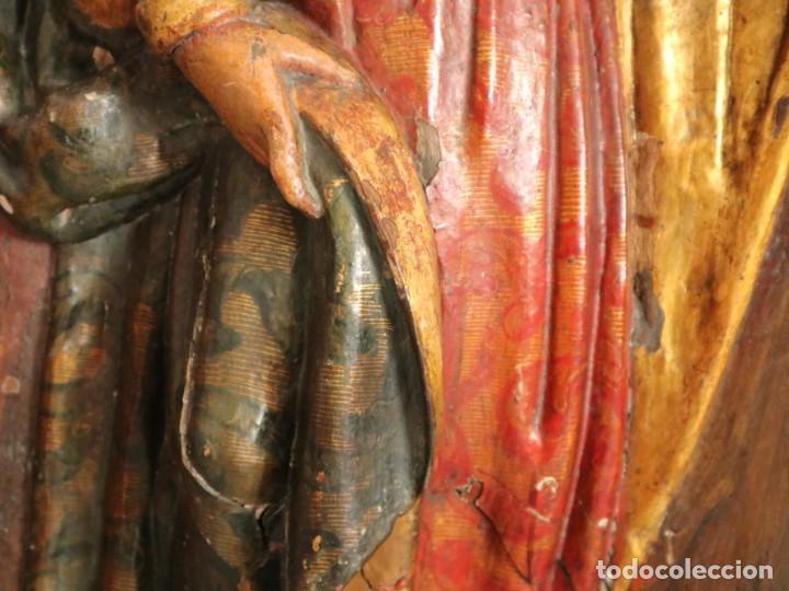 Arte: Santa Clara. Relieve de madera policromada. Retablo del siglo XVII. Mide 81 x 67 cm. - Foto 14 - 235186290