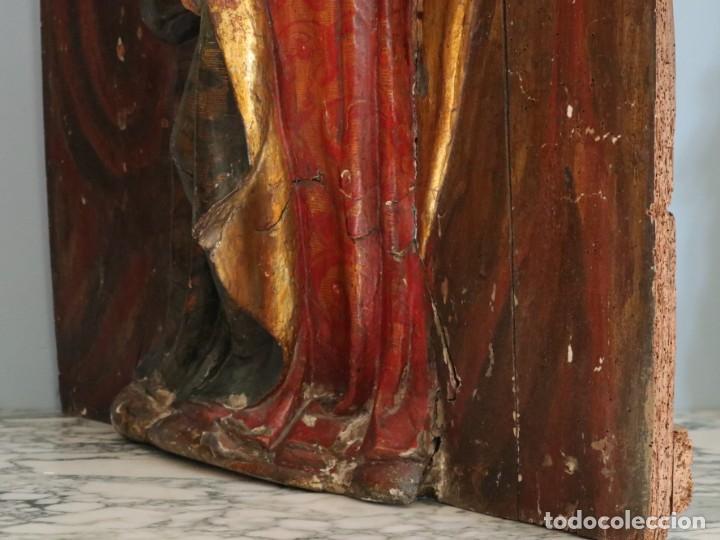 Arte: Santa Clara. Relieve de madera policromada. Retablo del siglo XVII. Mide 81 x 67 cm. - Foto 20 - 235186290
