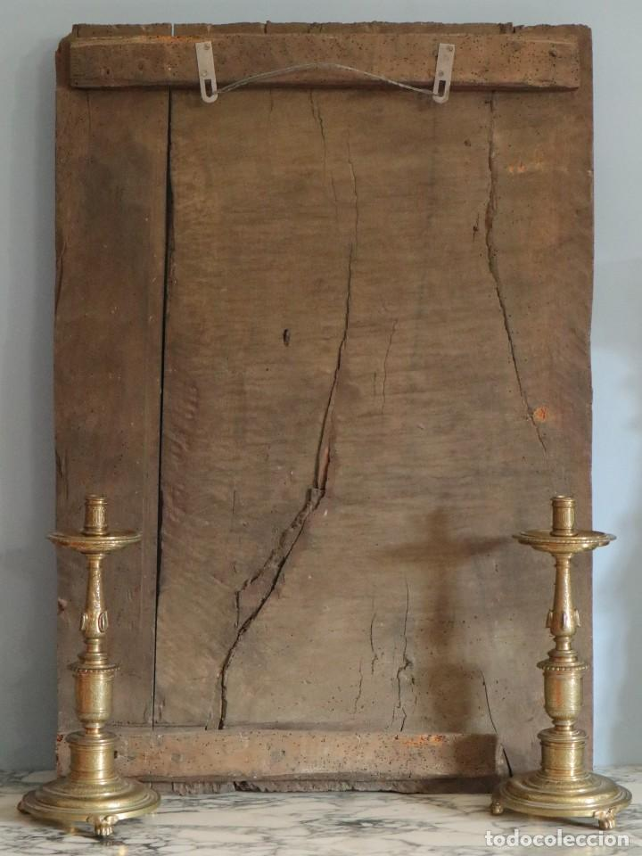 Arte: Santa Clara. Relieve de madera policromada. Retablo del siglo XVII. Mide 81 x 67 cm. - Foto 28 - 235186290