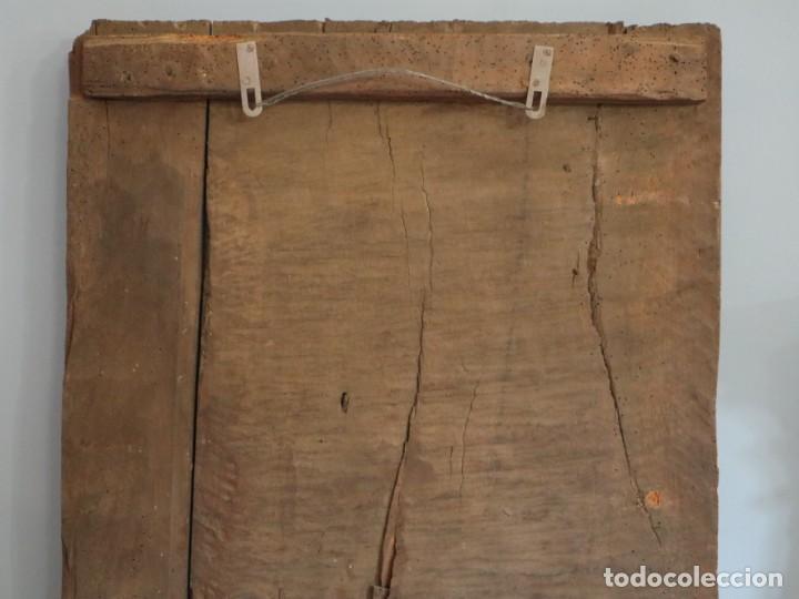 Arte: Santa Clara. Relieve de madera policromada. Retablo del siglo XVII. Mide 81 x 67 cm. - Foto 29 - 235186290