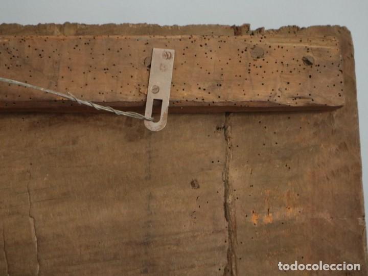 Arte: Santa Clara. Relieve de madera policromada. Retablo del siglo XVII. Mide 81 x 67 cm. - Foto 33 - 235186290