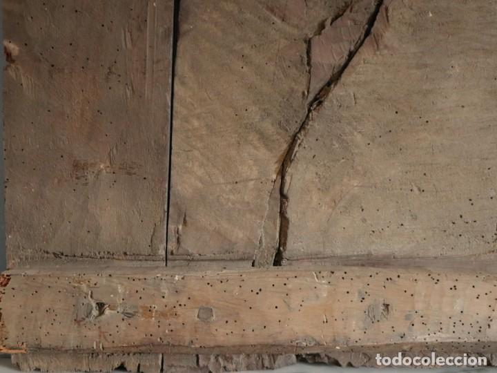 Arte: Santa Clara. Relieve de madera policromada. Retablo del siglo XVII. Mide 81 x 67 cm. - Foto 34 - 235186290