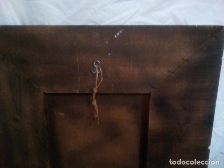 Arte: Cuadro religioso. Preciosa reproducción Virgen Botticelli. Portapaz años 60. 59 cm x49 cm - Foto 10 - 234396770