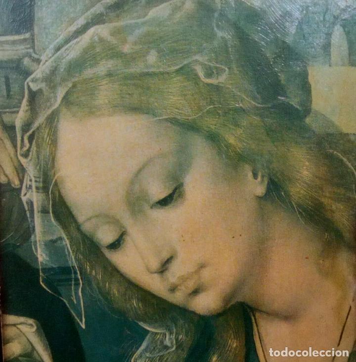 Arte: Cuadro religioso. Preciosa reproducción Virgen Botticelli. Portapaz años 60. 59 cm x49 cm - Foto 11 - 234396770