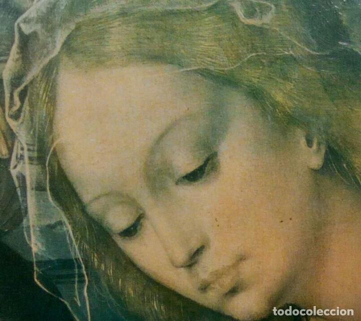 Arte: Cuadro religioso. Preciosa reproducción Virgen Botticelli. Portapaz años 60. 59 cm x49 cm - Foto 12 - 234396770