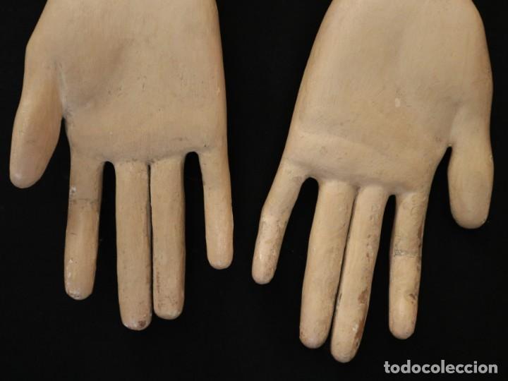Arte: Brazos y manos de tamaño natural para imagen vestidera o cap i pota. Siglo XVIII. - Foto 15 - 235361650