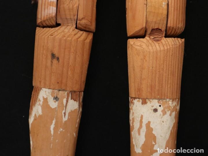 Arte: Brazos y manos de tamaño natural para imagen vestidera o cap i pota. Siglo XVIII. - Foto 17 - 235361650