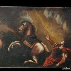 Arte: ANTIGUO ÓLEO SOBRE LIENZO. LA CONVERSIÓN DE SAN PABLO. S. XVII. TENEBRISTA.98X66. Lote 235510480