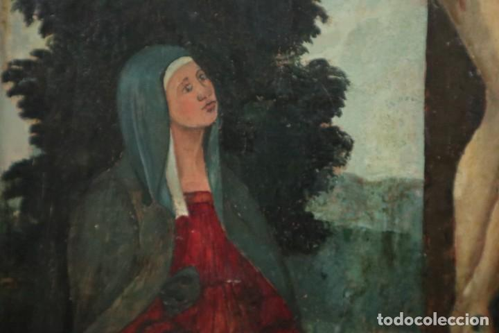 Arte: Calvario. Oleo sobre tabla. Escuela Española. Siglos XVI-XVII. - Foto 9 - 117955635