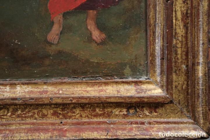 Arte: Calvario. Oleo sobre tabla. Escuela Española. Siglos XVI-XVII. - Foto 13 - 117955635