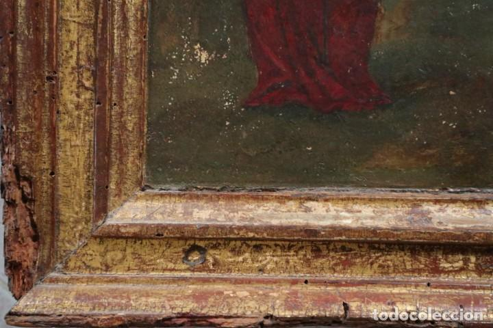 Arte: Calvario. Oleo sobre tabla. Escuela Española. Siglos XVI-XVII. - Foto 14 - 117955635