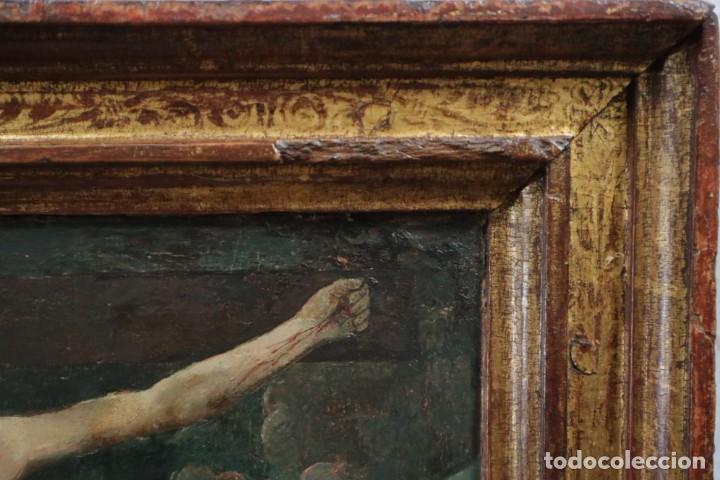 Arte: Calvario. Oleo sobre tabla. Escuela Española. Siglos XVI-XVII. - Foto 15 - 117955635