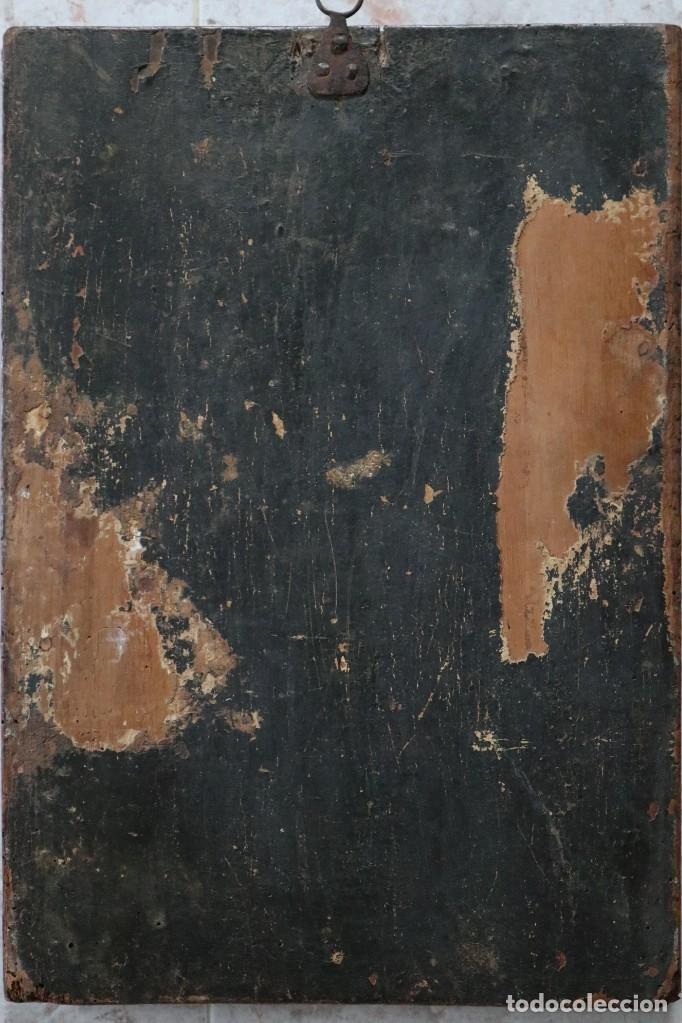 Arte: Calvario. Oleo sobre tabla. Escuela Española. Siglos XVI-XVII. - Foto 19 - 117955635