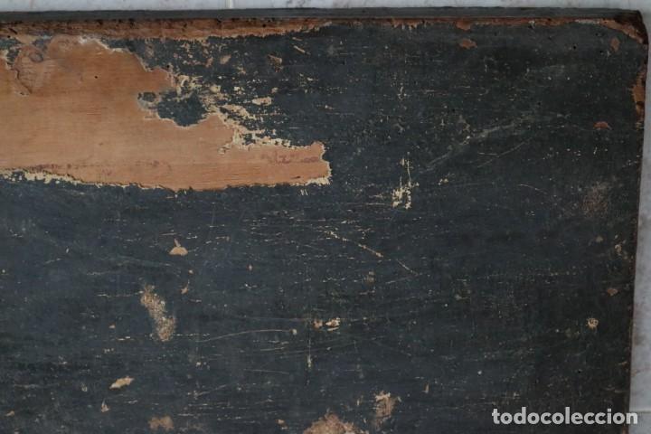 Arte: Calvario. Oleo sobre tabla. Escuela Española. Siglos XVI-XVII. - Foto 20 - 117955635
