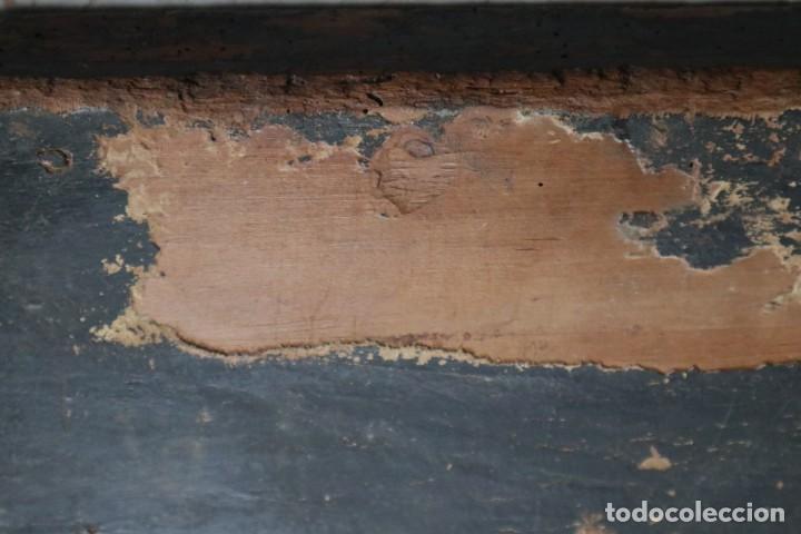 Arte: Calvario. Oleo sobre tabla. Escuela Española. Siglos XVI-XVII. - Foto 21 - 117955635