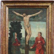 Arte: CALVARIO. OLEO SOBRE TABLA. ESCUELA ESPAÑOLA. SIGLOS XVI-XVII.. Lote 117955635