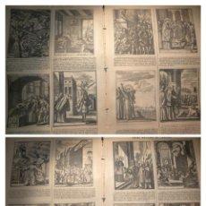 Arte: GRABADO RELIGIOSO 1890 - 1900 - VIDA DEL SANTO - 16 ESCENAS SAN ANTONIO PADUA SAINT ANTOINE PADOUE. Lote 235734135