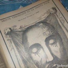 Arte: GRABADO RELIGIOSO 1890 - 1900 - VIDA DEL SANTO - SAINTE VERONIQUE LA SAINTE FACE VERONICA SANTA FAZ. Lote 235783785