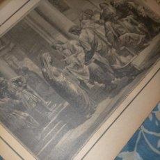 Arte: GRABADO RELIGIOSO 1890 - 1900 - VIDA DEL SANTO - LA PURIFICACION DE LA SANTA VIRGEN NIÑO JESUS. Lote 235785310