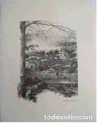 VISTA MONTEVITE - IRUÑA DE OCA (ALAVA). EL PUEBLO VASCO. 31X40 CM. ALDAMA J. (DIBUJO) (Arte - Arte Religioso - Litografías)
