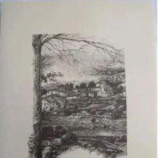 Arte: VISTA MONTEVITE - IRUÑA DE OCA (ALAVA). EL PUEBLO VASCO. 31X40 CM. ALDAMA J. (DIBUJO). Lote 235786010