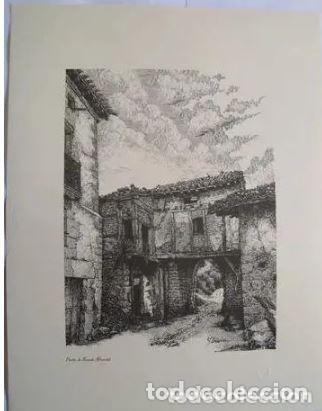 PUERTA DE BERNEDO - BERNEDO (ALAVA). EL PUEBLO VASCO. 31X40 CM. ALDAMA J. (DIBUJO) (Arte - Arte Religioso - Litografías)