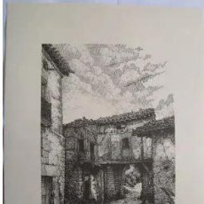 Arte: PUERTA DE BERNEDO - BERNEDO (ALAVA). EL PUEBLO VASCO. 31X40 CM. ALDAMA J. (DIBUJO). Lote 235788000