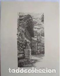 ELCIEGO (ALAVA). EL PUEBLO VASCO. 31X40 CM. ALDAMA J. (DIBUJO) (Arte - Arte Religioso - Litografías)