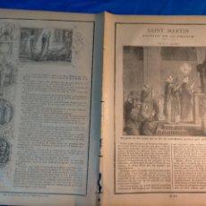 Arte: GRABADO RELIGIOSO 1890 - 1900 - VIDA DEL SANTO - SAINT MARTIN SAN MARTIN PATRON DE FRANCIA FRANCE. Lote 235824630