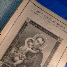 Arte: GRABADO RELIGIOSO 1890 - 1900 - VIDA DEL SANTO - SAINT SAN STANISLAS ESTANISLAO KOSTKA. Lote 235825490