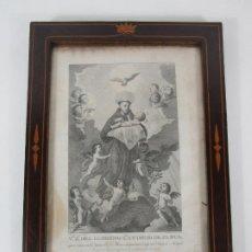 Arte: GRABADO SAN ANTONIO DE PADUA, IGLESIA CAPUCHINOS DEL PRADO MADRID - DIBUJO DE J. XIMENO -M. ALEGRE. Lote 235997800