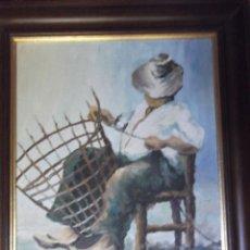 """Arte: GRAN OLEO DEL 86 """" CESTERO """" FIRMADO. Lote 236049540"""