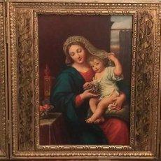 Arte: ANTIGUO TRIPTICO DE MADERA RELIGIOSO. Lote 236061985