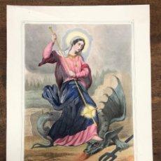 Arte: CROMOLITOGRAFIA RELIGIOSA STA. MIGUELIINA. TURGIS. S. XIX. Lote 236113075