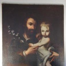 Arte: SAN JOSÉ CON EL NIÑO JESÚS. ESCUELA ESPAÑOLA. BARROCO. SIGLO XVII-XVIII.. Lote 236127255