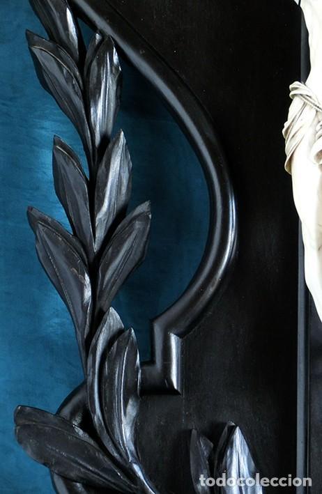 Arte: ANTIGUO Y EXTRAORDINARIO CRISTO DE MARFIL - CORNUCOPIA ESTILO LUIS XV - CONJUNTO ESCULTÓRICO - Foto 6 - 236156040