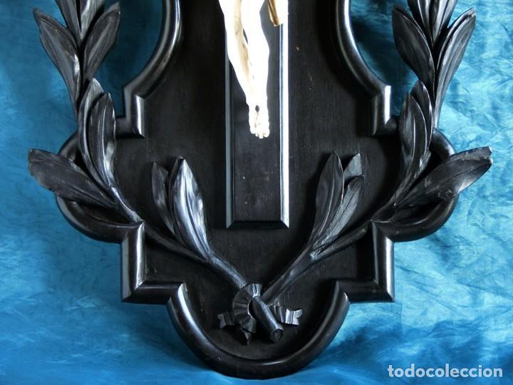 Arte: ANTIGUO Y EXTRAORDINARIO CRISTO DE MARFIL - CORNUCOPIA ESTILO LUIS XV - CONJUNTO ESCULTÓRICO - Foto 14 - 236156040