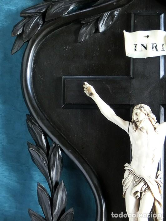 Arte: ANTIGUO Y EXTRAORDINARIO CRISTO DE MARFIL - CORNUCOPIA ESTILO LUIS XV - CONJUNTO ESCULTÓRICO - Foto 16 - 236156040